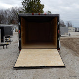 "7X16 Tandem Axle V-Nose Cargo Trailer 78"" Interior Rear Ramp and Radial Tires"