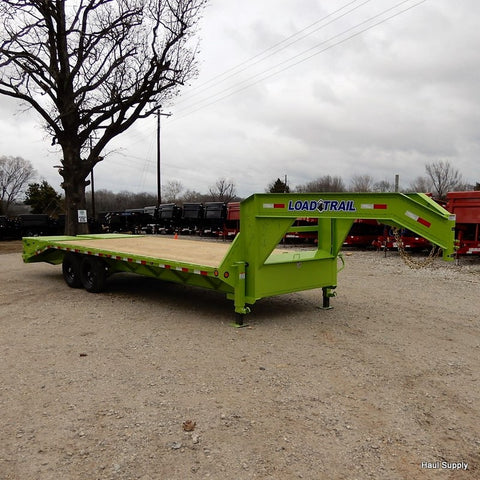 102X25 Tandem Axle Heavy Duty Gooseneck Trailer with 7K Dexter Axles 5' Self Clean Dove Tail with MAX Ramps