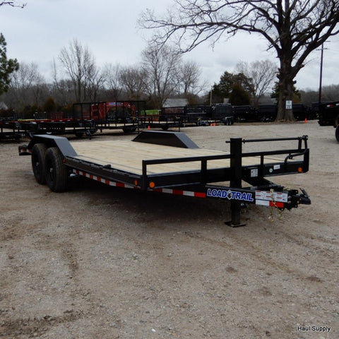 "102X20 Tandem Axle Car Hauler Trailer with Slide-In Ramps DoveTail 16"" Radial Tires and LED Lights"