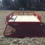 77X10 Single Axle Utility Trailer with 4' Gate, Radials Tires & LED Lighting
