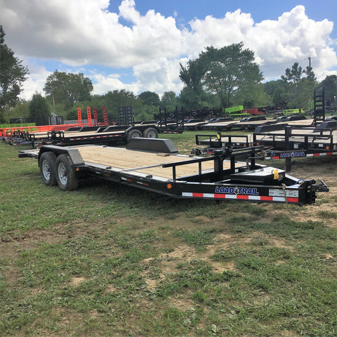 83X20 Tandem Axle Gravity Tilt Deck Trailer Radial Tires and LED Lights