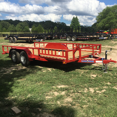 83X16 Tandem Axle UTV/ATV Utility Trailer Side Rail Ramps Radial Tires and LED Lights