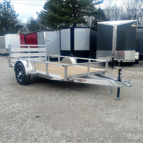 HH TRAILERS 66x10 Single Axle Aluminum Trailer With Bi-Fold Gate, Radial Tires & LED Lights - Haul Supply