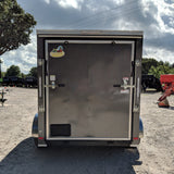 COVERED WAGON TRAILERS 6X12 Tandem Axle V-Nose Cargo Trailer Rear Ramp Radial Tires and LED Lights - Haul Supply