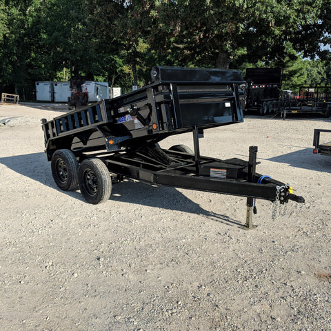 LOAD TRAIL 60X10 Tandem Axle Dump Trailer 3 Way Gate Side Mounted Ramps Radial Tires and LED Lights - Haul Supply