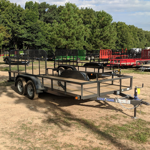 77X16 Tandem Axle Utility Trailer Fold Gate Radial Tires and LED Lights