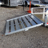 66x10 Single Axle Aluminum Trailer With Bi-Fold Gate, Radial Tires & LED Lights