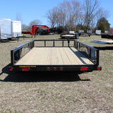 "LOAD TRAIL 77x14 Tandem Axle Utility Trailer with 15"" Radial Tires and LED Lights - Haul Supply"