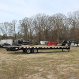 LOAD TRAIL 102x30 Tandem Axle Heavy Duty Gooseneck Trailer Self Cleaning Dove Tail MAX Ramps Radial Tires and LED Lights - Haul Supply