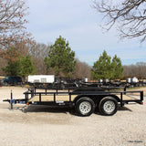 "77x14 Tandem Axle Utility Trailer with 15"" Radial Tires and LED Lights"