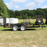 HH TRAILERS 76X16 Tandem Axle Rail Side Utility Rear Drop Gate Radial Tires - Haul Supply