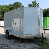 "SPARTAN 6X12 Single Axle V-Nose Cargo Trailer 78"" Interior Rear Ramp with Spring Assist - Haul Supply"