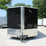 "8.5X20 Tandem Axle V-Nose Cargo Trailer with 84"" Interior Height Rear Ramp 15"" Radial Tires and LED Lights"