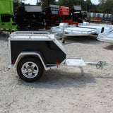 ALUMA, LTD. 45X26.5 Single Axle Tow Behind Motorcycle Trailer Radial Tires and LED Lights - Haul Supply