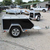 ALUMA, LTD. 57X26.5 Single Axle Tow Behind Motorcycle Trailer Radial Tires and LED Lights - Haul Supply