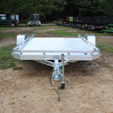 ALUMA, LTD. 77X12 Single Axle Aluminum Tilt Deck Utility Trailer Radial Tires and LED Lights - Haul Supply