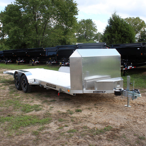 82X20 Tandem Axle Aluminum Tilt Car Hauler 25th Anniversary Edition Radial Tires and LED Lights