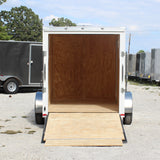SPARTAN 6X10 Single Axle V-Nose Cargo Trailer Rear Ramp Radial Tires and LED Lights - Haul Supply