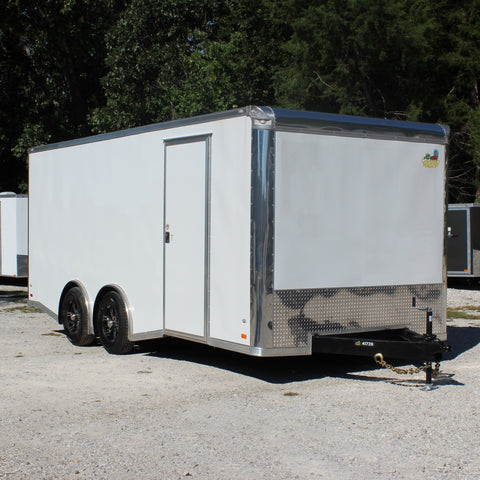 8.5X20 Split Torsion Axle 10K Cargo Trailer with 7' Interior Height Vinyl Ceiling Rivet-less Exterior +MORE