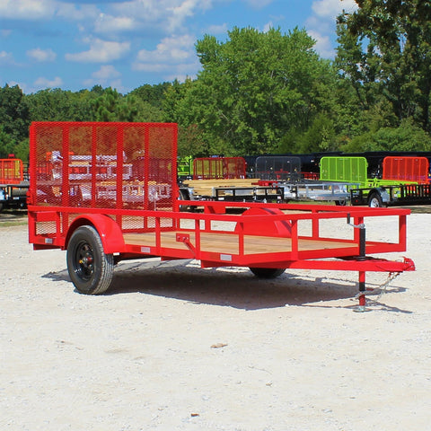 76X12 Single Axle Utility Trailer Rear Gate Radial Tires and LED Lights