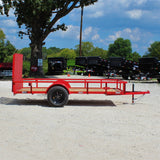 D&D 76X12 Single Axle Utility Trailer Rear Gate Radial Tires and LED Lights - Haul Supply