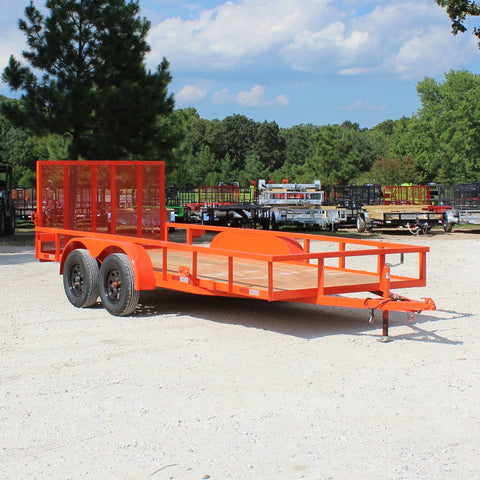 D&D 76X16 Tandem Axle Utility Trailer Rear Gate Radial Tires and LED Lights - Haul Supply