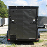 "SPARTAN 6X12 Single Axle V-Nose Enclosed Cargo Trailer 78"" Interior Rear Ramp Radials and LEDs - Haul Supply"