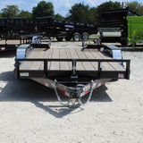 82X16 Tandem Axle Equipment Trailer Fold up Ramps Radial Tires and LED Lights