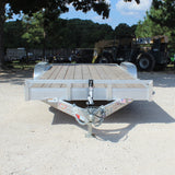82X20 Tandem Axle Aluminum Car Hauler Slide-In Ramps Radial Tires and LED Lights