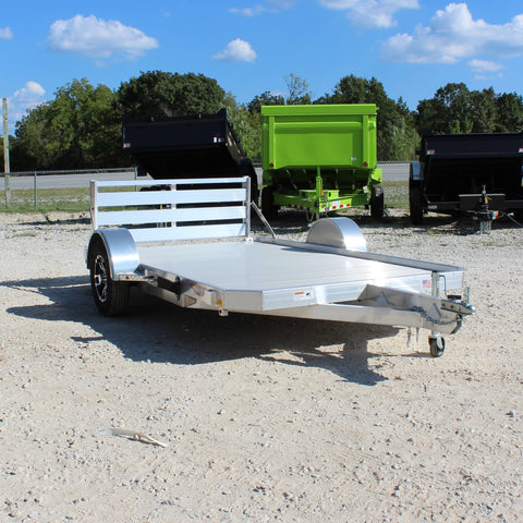 78X12 Single Axle Low Side Aluminum Utility Trailer Bi-Fold Gate Radial Tires and LED Lights