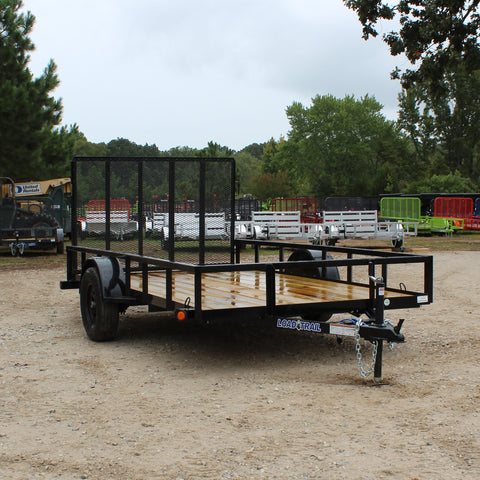 LOAD TRAIL 77X12 Single Axle Utility Trailer Rear Gate Radial Tires and LED Lights - Haul Supply
