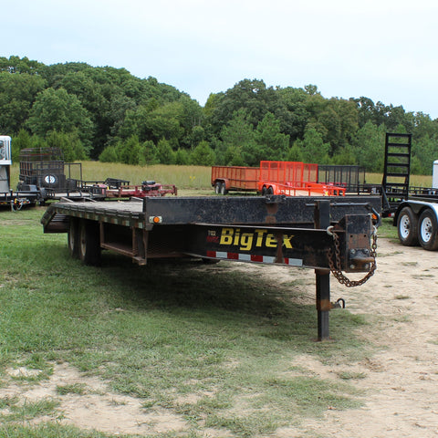 USED 102X20 Tandem Axle Equipment Trailer Pintle Hook Self Clean Dovetail Flip Over Ramps