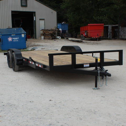 82X20 Tandem Axle Car Hauler Slide In Ramps Radial Tires and LED Lights