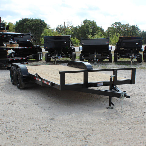 82X18 Tandem Axle Car Hauler Slide Out Ramps Radial Tires and LED Lights