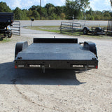 82X18 Tandem Axle Car Hauler Slide In Ramps Radial Tires and LED Lights