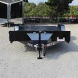 82X20 Tandem Axle Equipment Trailer Slide In Ramps Dovetail Radial Tires and LED Lights