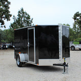 SPARTAN 6X12 Single Axle V-Nose Enclosed Cargo Trailer Rear Ramp with Spring Assist - Haul Supply
