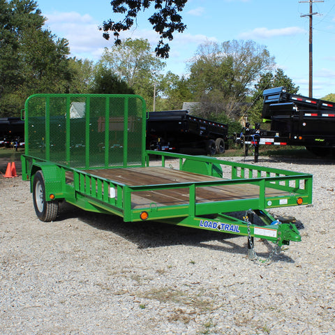 83X14 Single Axle UTV/ATV Utility Trailer Fold Gate Side Rail Ramps Radial Tires and LED Lights