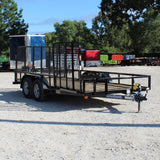 83X16 Tandem Axle Utility Trailer Fold Gate Radial Tires and LED Lights