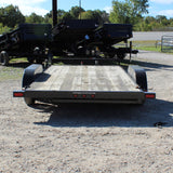 83X16 Tandem Axle Car Hauler Slide-In Ramps Radial Tires and LED Lights
