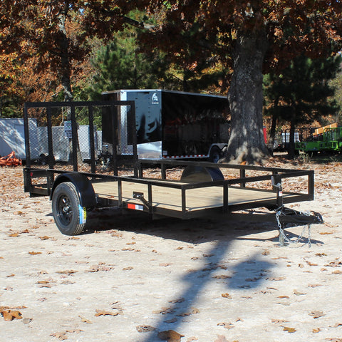 76X12 Single Axle Utility Trailer Fold Gate Radial Tires and LED Lights