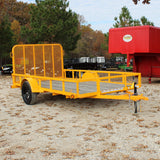 77X12 Single Axle Utility Trailer 4' Fold Gate Radial Tires and LED Lights