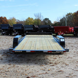 82X22 Tandem Axle Partial Tilt Deck 14K Equipment Trailer Radial Tires and LED Lights