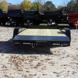 82X18 Tandem Axle Car Hauler Slide-In Rear Ramps Steel Dovetail Radials and LED Lights
