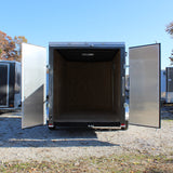 SPARTAN 6X12 Single Axle V-Nose Enclosed Cargo Trailer Double Rear Doors Radial Tires and LED Lights - Haul Supply