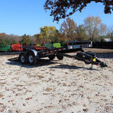 82X20 Tandem Axle Tilt Deck Equipment Trailer Hydraulic Lift Radial Tires and LED Lights