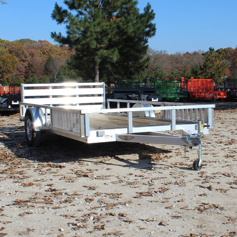 82X14 Single Axle Aluminum UTV/ATV Utility Trailer Bi-Fold Gate Radial Tires and LED Lights