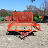 77X12 Single Axle Utility Trailer Rear Gate Radial Tires and LED Lights