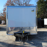 "8.5X20 Tandem Axle V-Nose Enclosed Cargo Trailer 84"" Interior Rear Ramp Radial Tires and LED Lights"