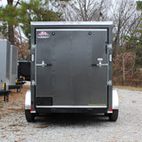"ROCK SOLID 6X12 Tandem Axle V-Nose Enclosed Cargo Trailer 75"" Interior Rear Ramp Radials and LEDs - Haul Supply"